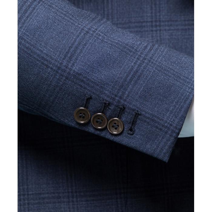 Niebieski garnitur Sanremo Air w kratę