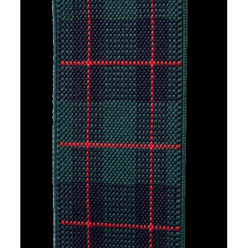 Szelki zielono-czerwone w dużą kratę