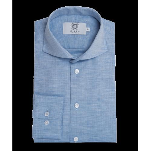 Koszula błękitna z flaneli