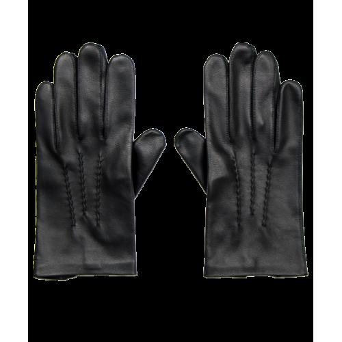 Męskie rękawiczki ze skóry koźlęcej - czarne