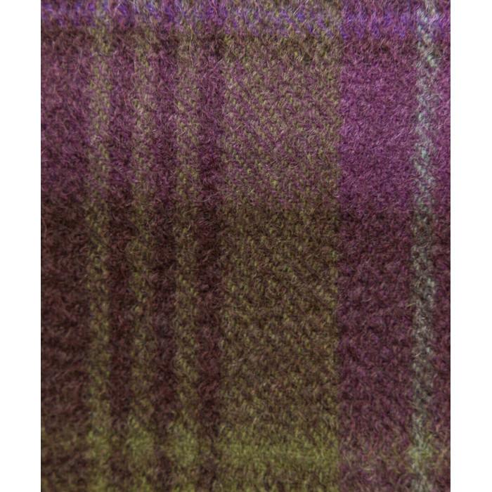 Kaszmirowy szal w kratkę fioletowo-zieloną