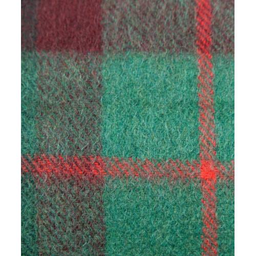 Kaszmirowy szal w kratkę zielono-czerwoną
