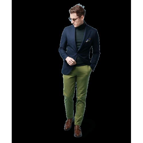 Spodnie chino zielone