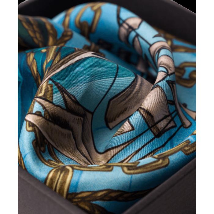 Poszetka błękitno-granatowa z windjammerem
