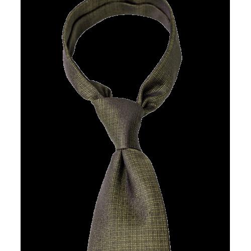 Krawat oliwkowy z fakturą