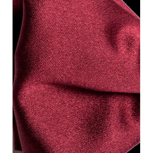 Mucha jedwabna czerwona