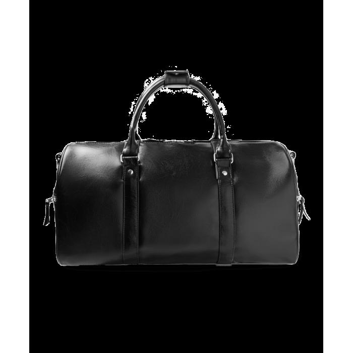 Kompaktowa torba weekendowa skórzana czarna