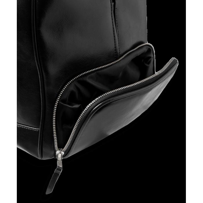 Torba podróżna skórzana - czarna