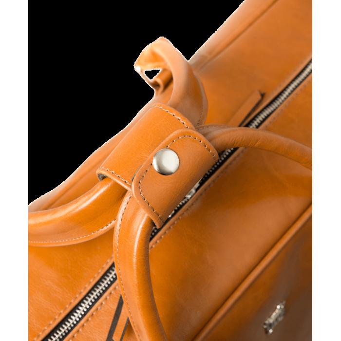 Torba podróżna skórzana - koniakowa