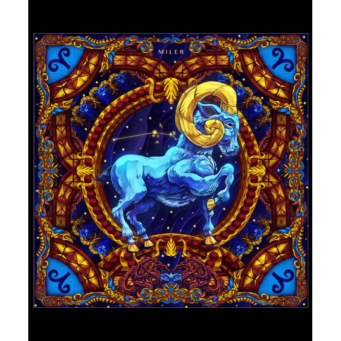"""Poszetka """"Znaki Zodiaku"""" - Baran"""