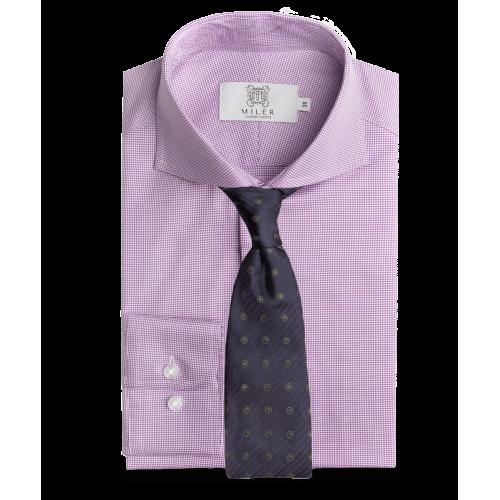 Koszula fioletowa w psi ząb