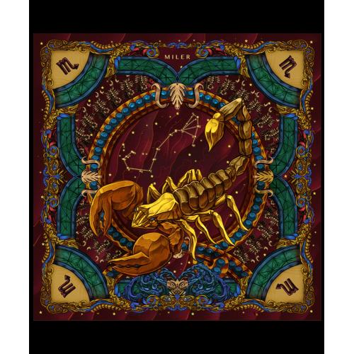 "Poszetka ""Znaki Zodiaku"" - Skorpion"