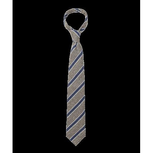 Zielony krawat w paski