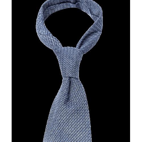 Niebieski krawat z fakturą