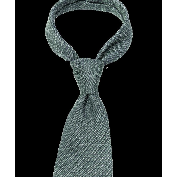 Zielony krawat w groszki