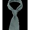 Zielony krawat w groszki...