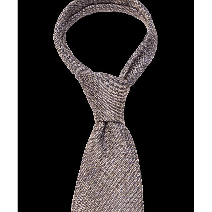 Brązowy krawat w groszki