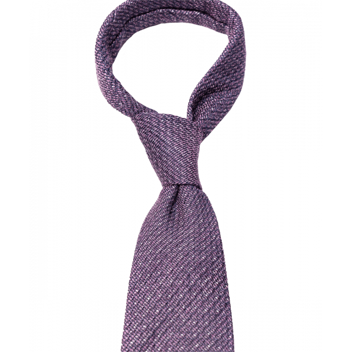 Fioletowy krawat w groszki