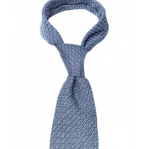 Niebieski krawat w groszki