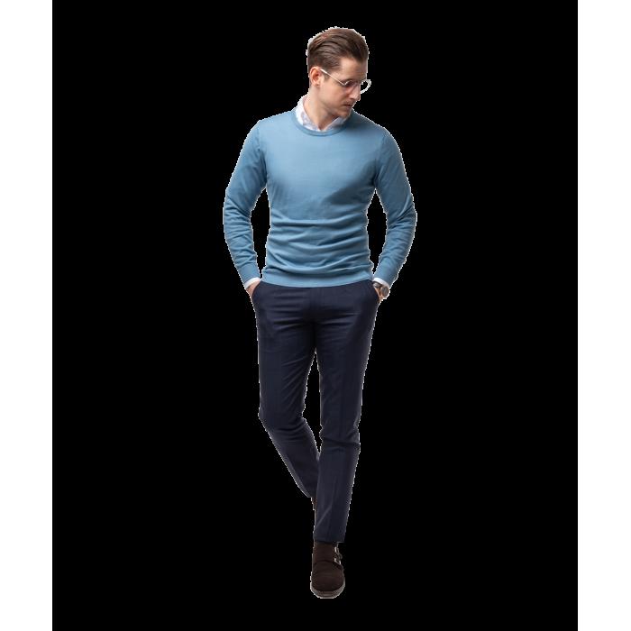 Sweter błękitny z bawełny