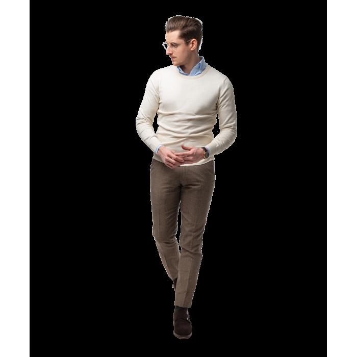 Sweter beżowy z bawełny