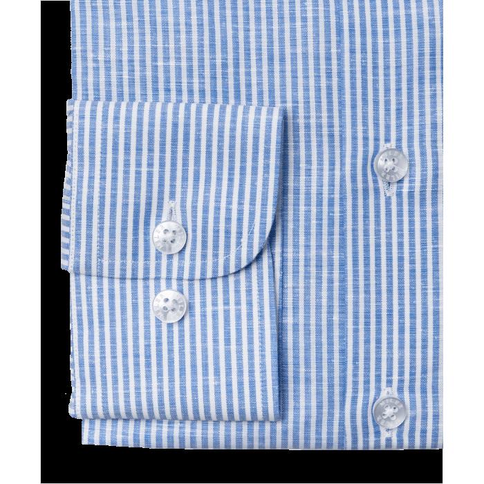 Koszula lniana w niebieski prążek candy stripe