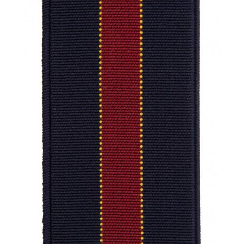 Granatowe szelki do spodni w czerwone paski