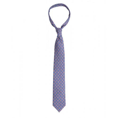 Niebieski krawat w kwiatki