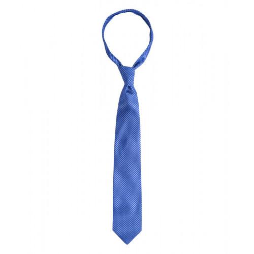 Niebieski krawat w drukowany wzór