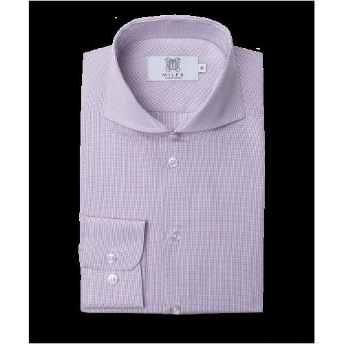 Koszula półformalna w drobną fioletową kratkę