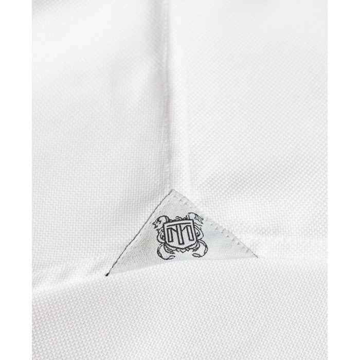 Koszula biała oxford z kołnierzem włoskim