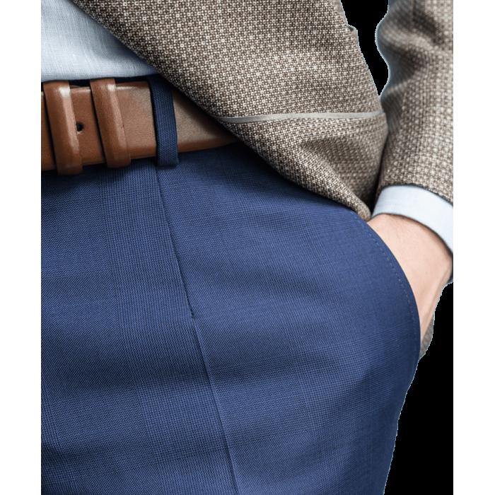 Granatowe spodnie Phoenix w kratę
