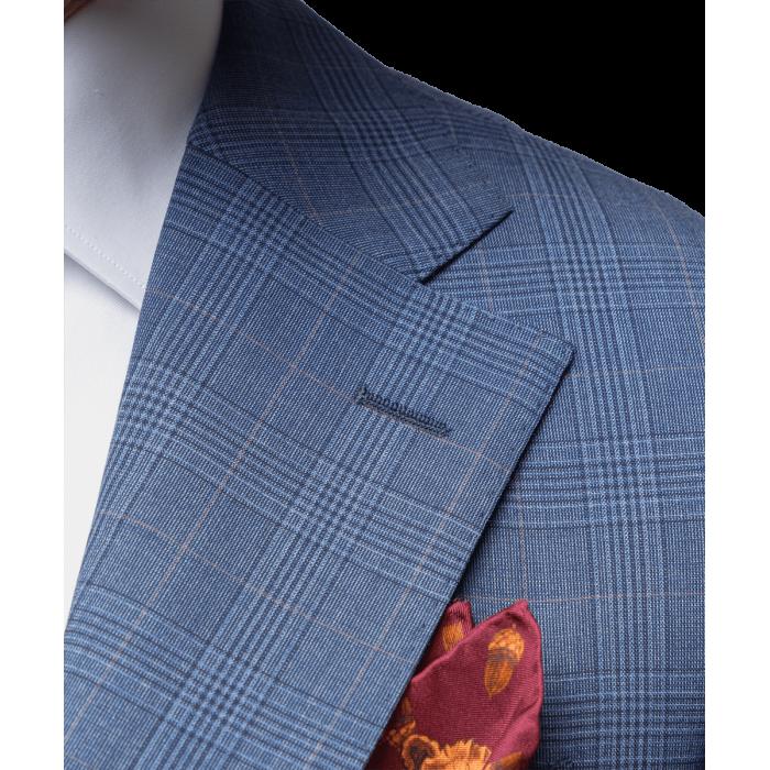Niebieski garnitur Madeira Dapper w kratkę księcia Walii