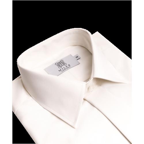 Koszula na spinki formalna - ecru