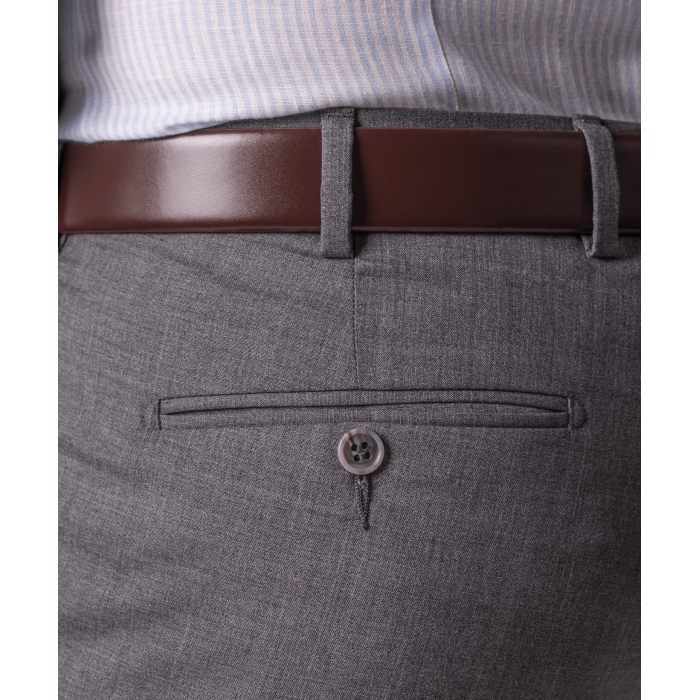 Szare wełniane spodnie męskie