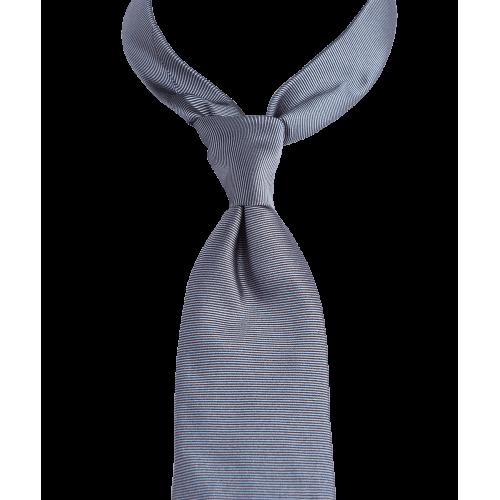 Szary gładki krawat