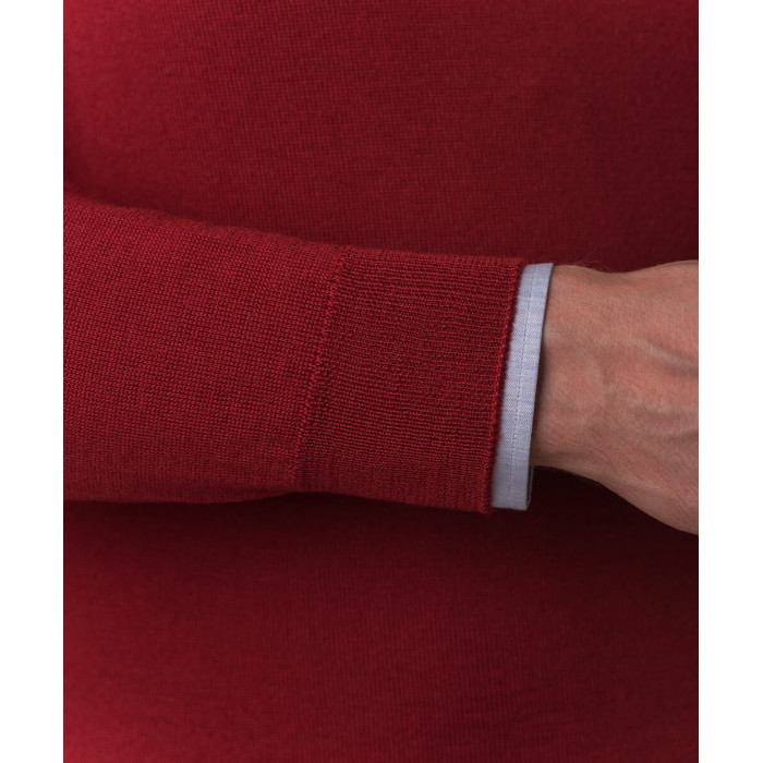 Czerwony sweter z wełny merino