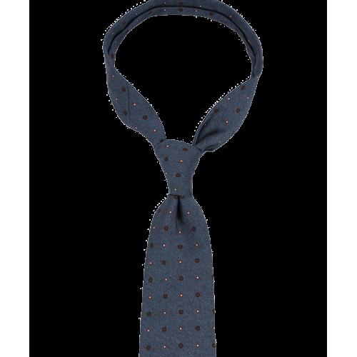 Niebieski krawat w kropki