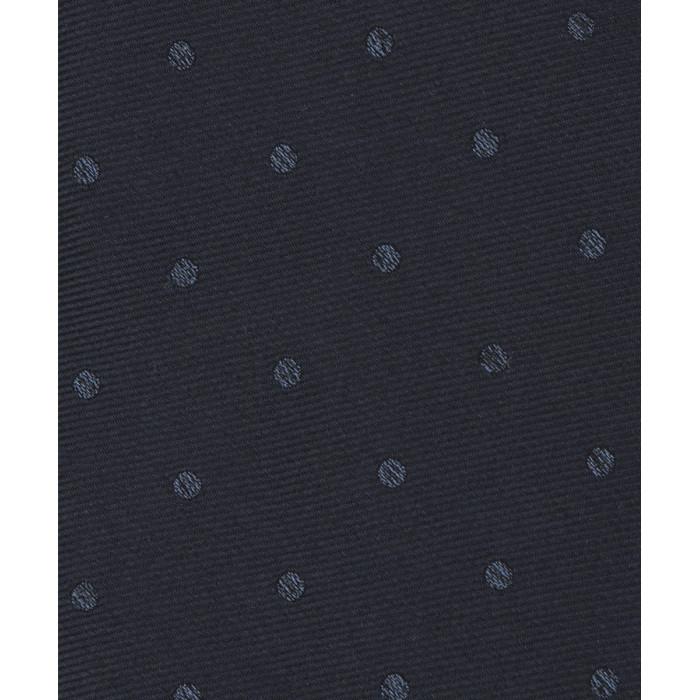 Granatowy krawat w groszki