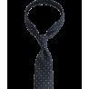 Granatowy krawat w drobny wzór...