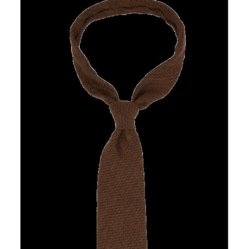 Pomarańczowy krawat z fakturą