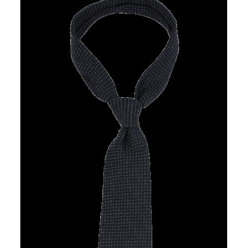 Granatowy krawat w szary wzór