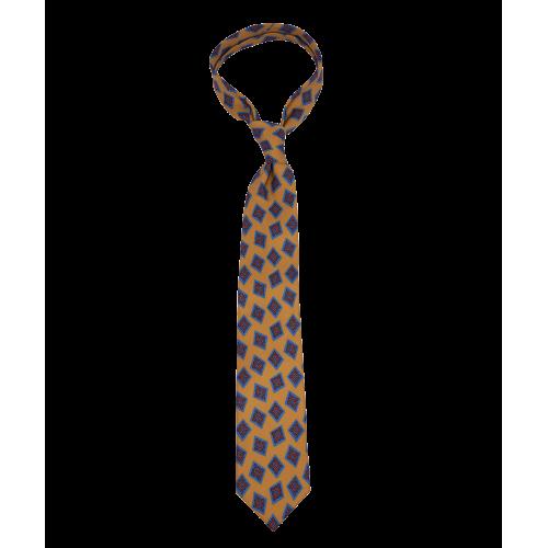 Pomarańczowy krawat w duże ornamenty
