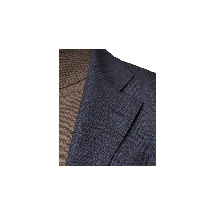 Niebieski flanelowy garnitur Madeira w kratkę księcia Walii