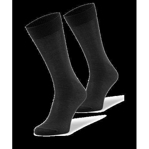 Czarne skarpetki męskie z bawełny merceryzowanej