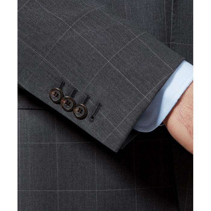 Szary garnitur Onyx w kratę windowpane