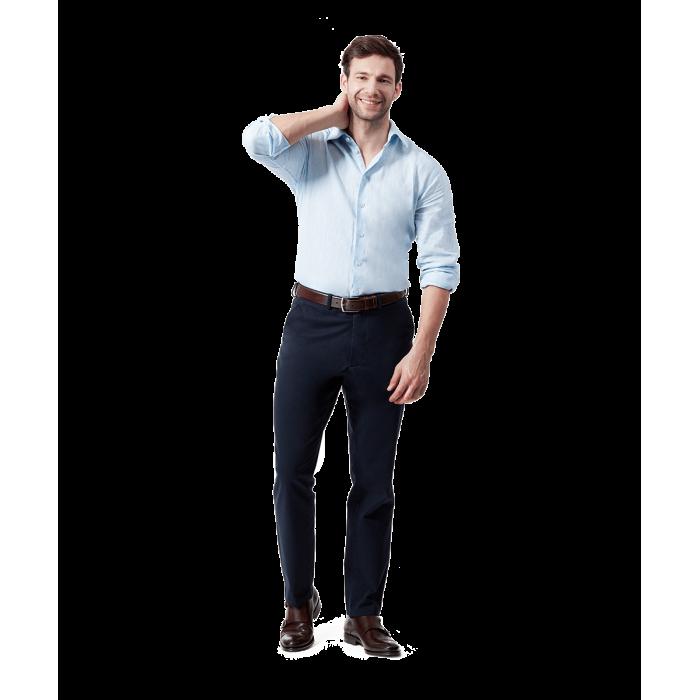 Granatowe spodnie chino