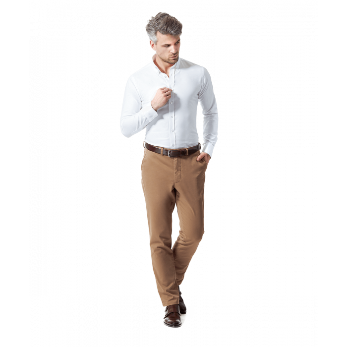 Karmelowe spodnie chino