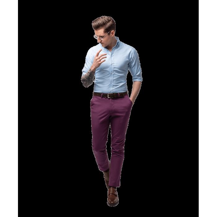Fioletowe spodnie chino