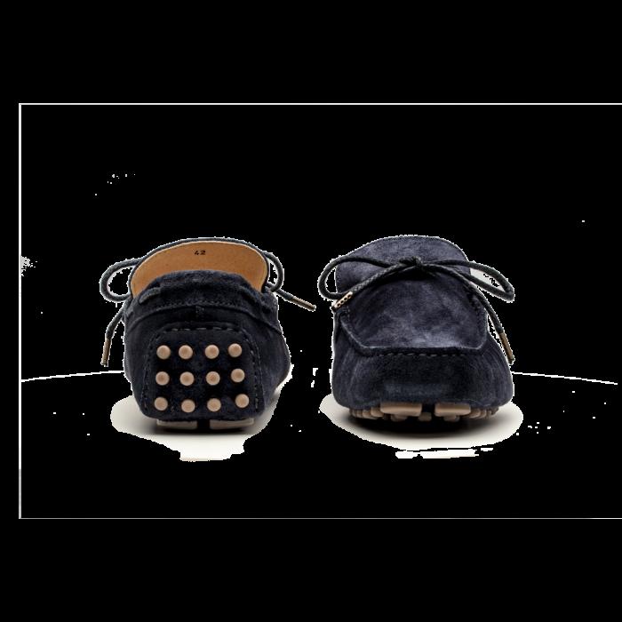 Mokasyny męskie granatowe Driving Mocs - 102 M5